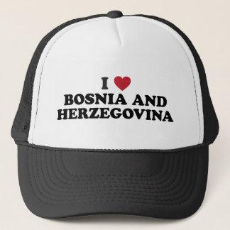 Casquette J'aime la Bosnie-Herzégovine