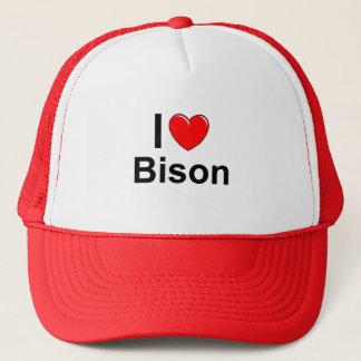 Casquette J'aime le bison de coeur