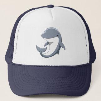 Casquette J'aime le Bottlenose mignon de dauphins