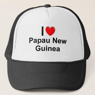 Casquette J'aime le coeur Papau Nouvelle-Guinée