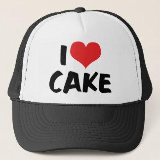 Casquette J'aime le gâteau de coeur - amant de beignet de