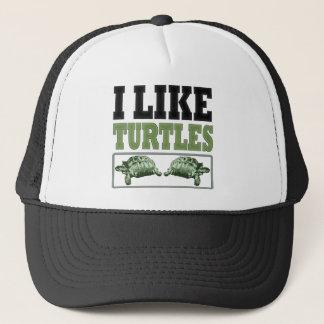 Casquette J'aime le grand texte de tortues