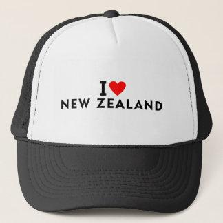 Casquette J'aime le pays de la Nouvelle Zélande comme le