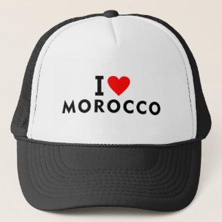 Casquette J'aime le pays du Maroc comme le tourisme de