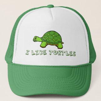 Casquette J'aime mignon vert de tortues