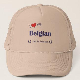 Casquette J'aime mon belge (le cheval masculin)