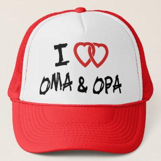 Casquette J'aime mon Oma et Opa