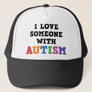 Casquette J'aime quelqu'un avec l'autisme