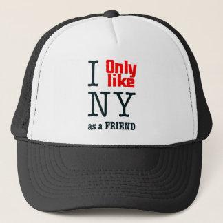 Casquette J'aime seulement NY en tant qu'ami