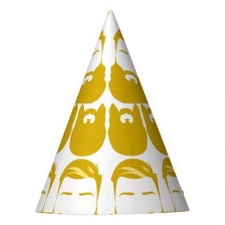 Casquette jaune multiple de partie de barbes chapeaux de fètes