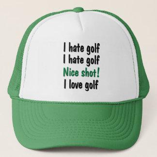 Casquette Je déteste - le golf d'amour