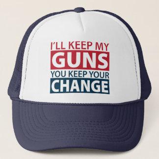 Casquette Je garderai mes armes à feu, vous garde votre
