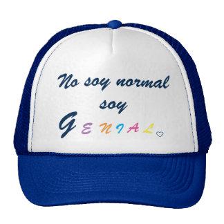 Casquette : je ne suis pas normal je suis brillant