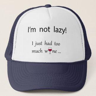 Casquette Je ne suis pas paresseux