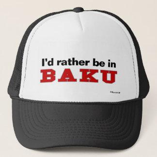 Casquette Je serais plutôt à Bakou