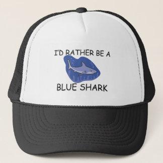 Casquette Je serais plutôt un requin bleu