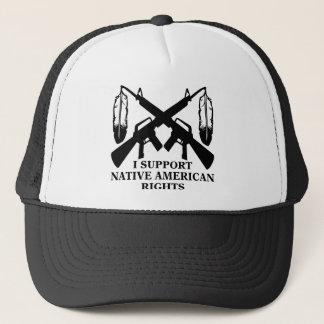 Casquette Je soutiens des droits de Natif américain