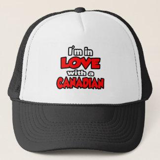 Casquette Je suis dans l'amour avec un Canadien