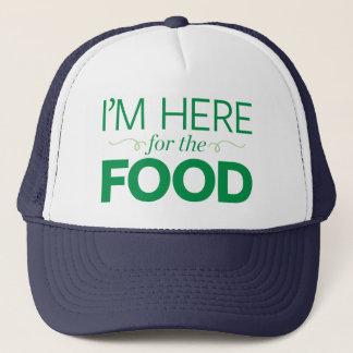 Casquette Je suis ici pour la nourriture