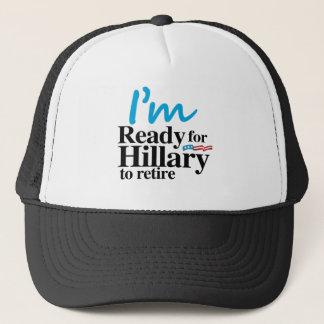 Casquette Je suis prêt pour que Hillary retire - .png