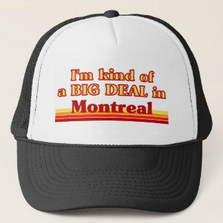 Casquette Je suis un peu une affaire à Montréal