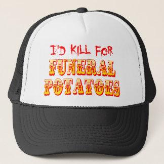 Casquette Je tuerais pour les pommes de terre funèbres