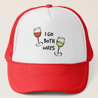 Casquette Je vais les deux verres de vin de manières