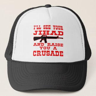 Casquette Je verrai votre Jihad et vous élèverai une