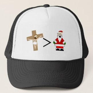 Casquette Jésus est plus grand que Père Noël