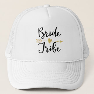 Casquette Jeune mariée Tribe| noir et d'or