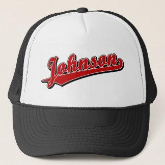 Casquette Johnson en rouge