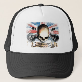 Casquette jouer du rock and petit pain skull drapeau and