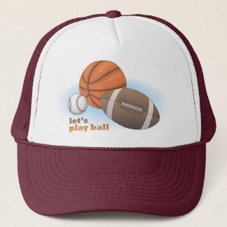Casquette Jouons la boule : base-ball, basket-ball et
