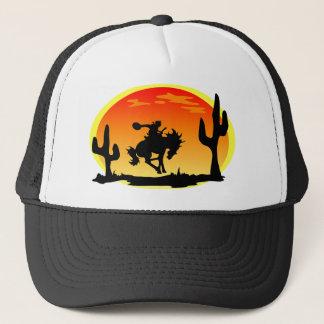 Casquette Jour national de la silhouette de Bronco de cowboy