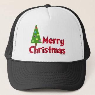 Casquette Joyeux Noël, arbre moderne