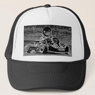 Casquette Kart d'enfant dans noir et le blanc