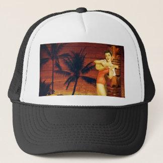 Casquette ketmie florale de poteau de totem de palmier de