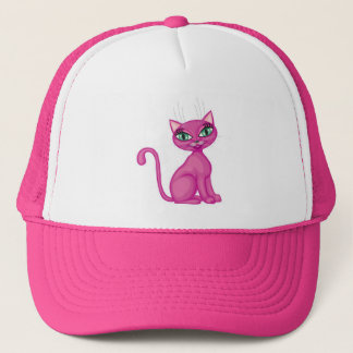 Casquette Kitty impertinent rose