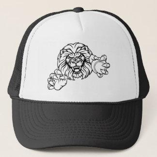 Casquette La balle de tennis de lion folâtre la mascotte