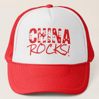Casquette La CHINE bascule le vert de mots