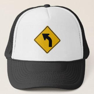 Casquette La courbe gauche, trafiquent le panneau