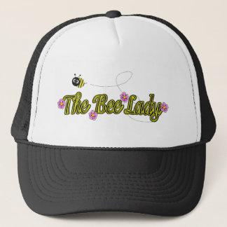 Casquette la dame d'abeille avec des fleurs