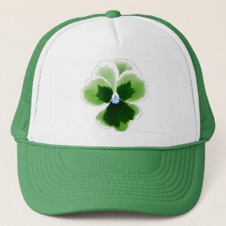Casquette La fleur verte de pensée Editable ajoutent votre