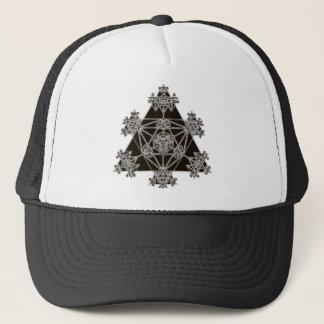 Casquette La géométrie sacrée : Triangles noires :