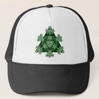 Casquette La géométrie sacrée : Triangles vertes :