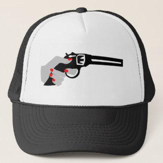Casquette La main et l'arme à feu de la femme