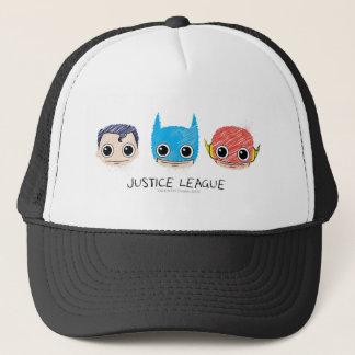 Casquette La mini ligue de justice dirige le croquis