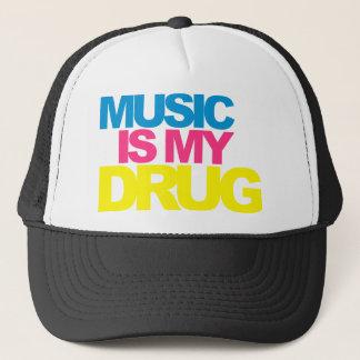 Casquette La musique est ma drogue