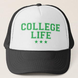 Casquette La vie d'université - vert
