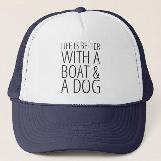 Casquette La vie est meilleure avec un bateau et un